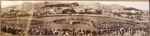 1931 panoramic view of Basin Reserve during the visit of Lord and Lady Baden-Powell
