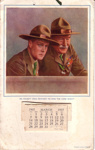 1937 Calender featuring the Prince of Wales and Lord Baden-Powell