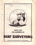 1960's Sea Scout boat safety booklets