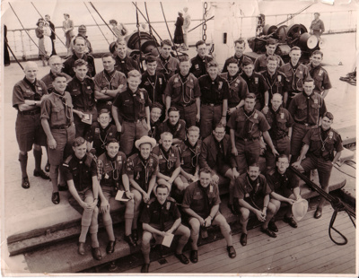 1947 NZ Scouts aboard ships to the UK and home