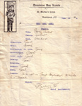 1912 St Michael's Troop Camp Report
