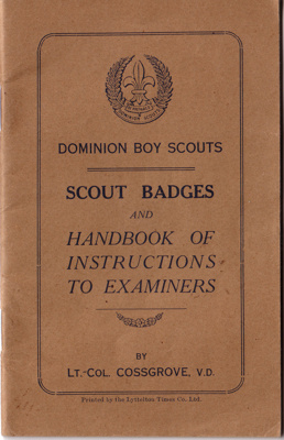 1916-Scout Badges booklet