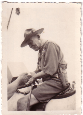 1935 Baden Powell on horseback at Frankston Jamboree