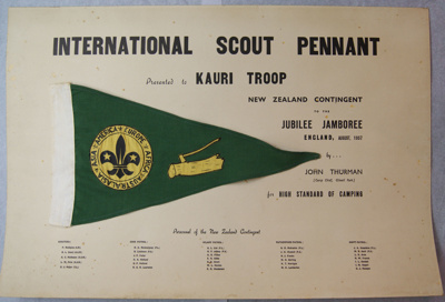 1957 International Scouting pennant
