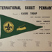 1957 International Scouting pennant