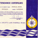 1967 Sea Scout Regatta participation certificate
