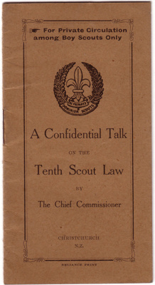 1910's - A Confidential Talk - Tenth Scout Law; 1910's