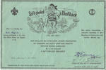 1951 Sea Scout Regatta participation certificate