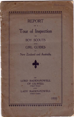 1931 Lord Baden-Powell Tour report; Lord & Lady Baden-Powell of Gilwell; 1931