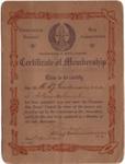 Membership Certificate; 1910's