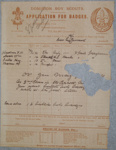1915 Scouts badge order form