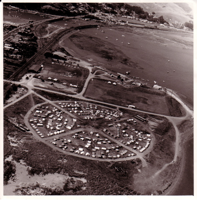 1965 National Sea Scout Regatta aerial view; Vic McLennan Photography of Eastbourne