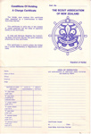 1970's Sea Scout Charge Certificates