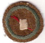 1907 Scribe's Scout proficiency badge