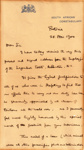 1900 Baden-Powell letter to Lagmhor Estate