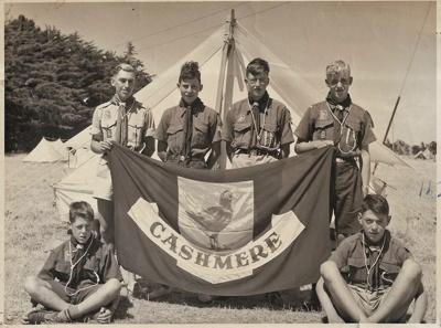1954 Cashmere Scout Troop at the Canterbury Jamborette