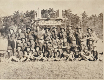 1954 Waimate Scout Troop at the Canterbury Jamborette