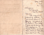 1911 Barrys Bay Scout Camp letter