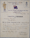1915 Leader appointment certificate