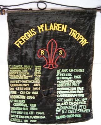 1944 Fergus McLaren Trophy Banner