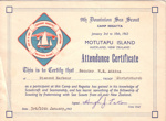 1963 Dominion Sea Regatta participation certificate