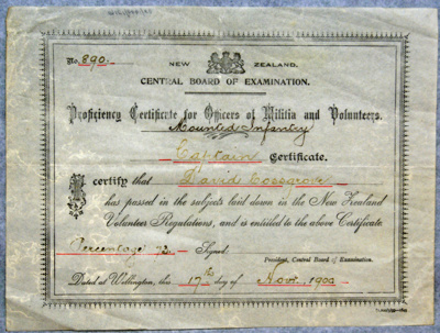 1900 Cossgrove's Officiers Proficiency Certificate