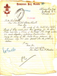 1910 Poverty Bay Scout correspondence