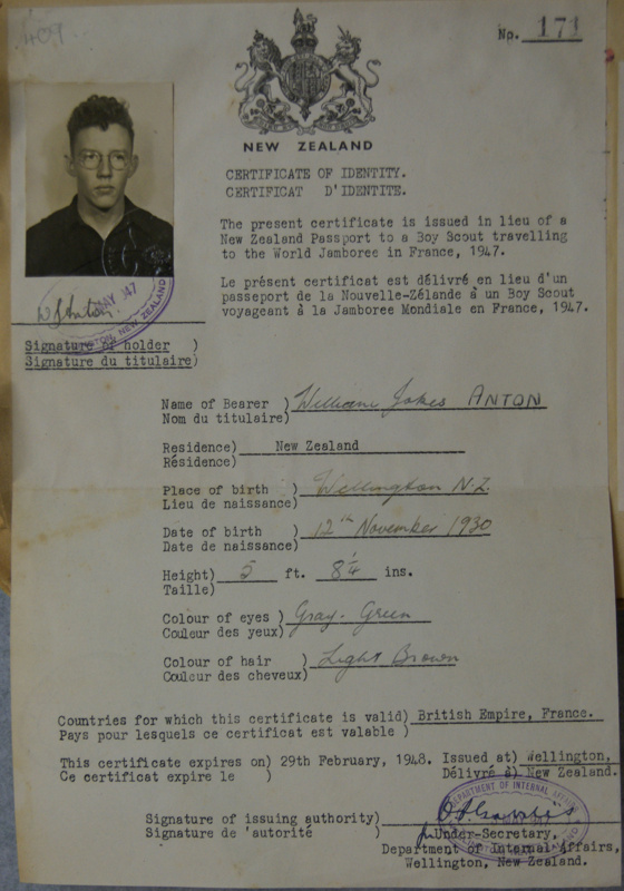 1947 Scout Identity Papers On Ehive