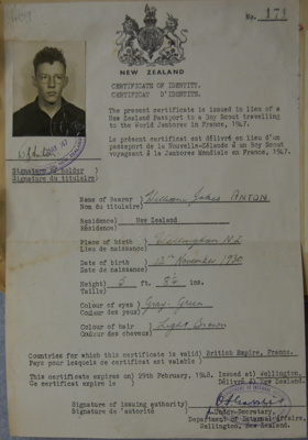1947 Scout Identity Papers