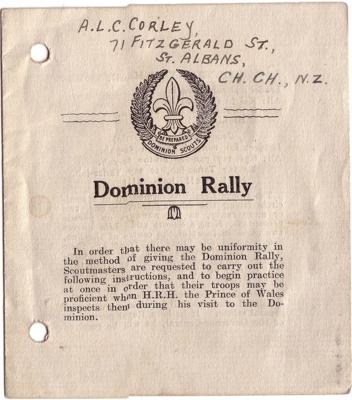 1920 Prince of Wales Rally; 1920