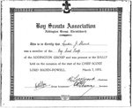 1931 Addington certificate for Baden-Powell Rally