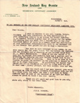 1935 Cooksey letter of thanks regarding the Frankston Jamboree