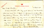 1910 Letter from Baden-Powell to Thames Scouts