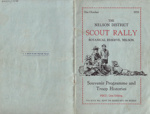 1933 Nelson Scout Rally programme