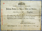 1887 Cossgrove's Officier's Proficiency Certificate