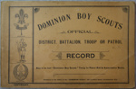 1910's Dominion Scout Record book