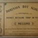 1910's Dominion Scout Record book