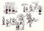 Scouting sketchbook drawings; John Stuart Hay; 1960's