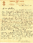 1918 Auckland East Girl Peace Scout correspondence