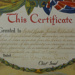 1927 Mehalski Silver Cross Certificate
