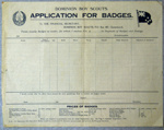 1910's Application for Badges