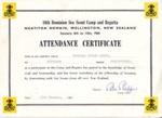 1965 10th Dominion Sea Scout Regatta certificate