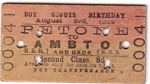 1929 Scout train ticket, Wellington