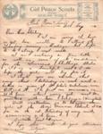 1914 - Auckland District Girl Peace Scout letterhead