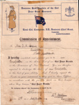 1912 Girl Peace Scout commission
