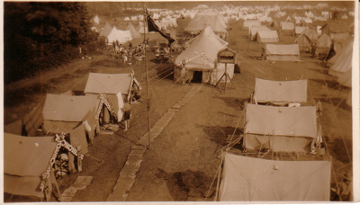 1929 New Zealand campsite at Arrowe Park