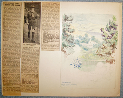 1935 - Page 6 of Lord Baden-Powell's scrapbook