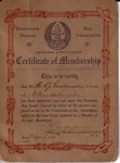 1919 Certificate of Membership