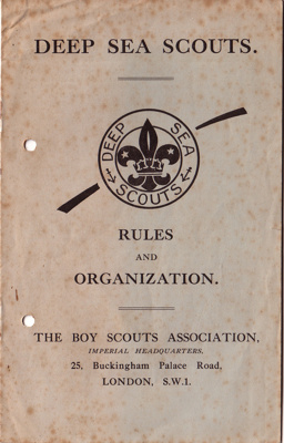 1930's Deep Sea Scouting booklet