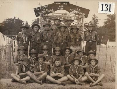 1954 Mt. Pleasant Scout Troop at the Canterbury Jamborette